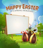 Frühlingszeit und Osterferien vektor