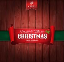 Vintage Jul Hälsningar Bakgrund vektor
