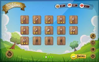 Game User Interface Design för Tablet vektor
