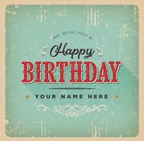 Vintage Geburtstag Poster