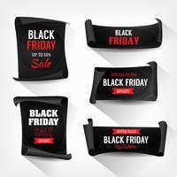 Schwarzer Freitag-Verkauf auf Pergament-Blättern vektor