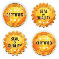 tecknad guld kvalitetskvaliteter sälar