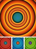 Abstrakt tecknad cirklar bakgrundsuppsättning