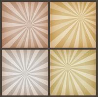 Abstrakt Vintage Sunbeams Bakgrunder Set