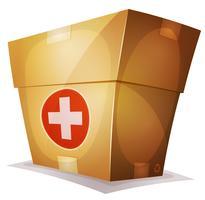 Lustige Medizinbox für Ui-Spiel vektor