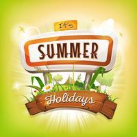 Sommerzeit-Hintergrund
