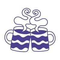 Kaffeetassen trinken isolierte Symbole vektor