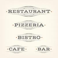 Retro Restaurant, Pizzeria und Bar Banner vektor