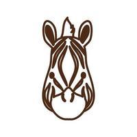 niedliches Zebra-Wildtier-Charaktersymbol vektor