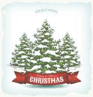 Vintage jul bakgrund vektor