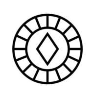Casino-Chip mit isoliertem Diamantsymbol vektor