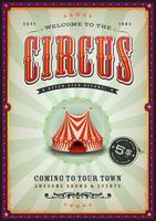 Weinlese-Zirkus-Plakat mit Sonnenstrahlen