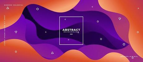 3D geschichtete flüssige Form Wellenform abstrakten flüssigen Hintergrund. vektor