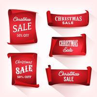 Julförsäljning på parchmentrullsats vektor