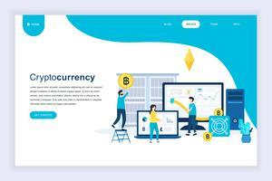 Cryptocurrency-Web-Banner vektor