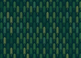 nahtloses buntes Muster mit Nadelbäumen vektor