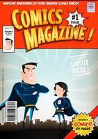 Comic-Buchcover vektor