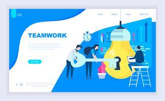 Teamwork Project Webbanner vektor