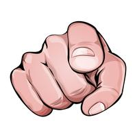 Vi vill att du pekar fingerikon vektor