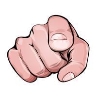 Wir möchten, dass Sie das Finger-Symbol zeigen vektor