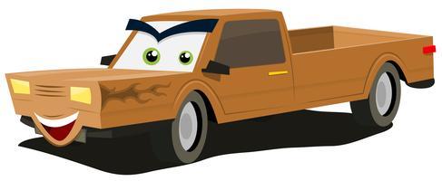 Tecknade pickup-tecken vektor