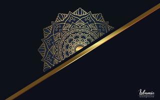 Luxus-Mandala-Hintergrund mit goldenem Arabesque-Pro-Vektor vektor