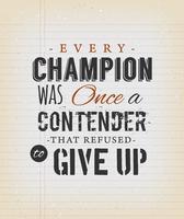 Inspirational Zitat auf Vintage School Paper