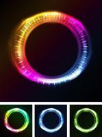 Abstrakte Augen Iris oder Neonlicht vektor