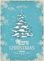 Weihnachtsgrußkarte Mit Grunge Textur vektor