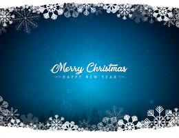 Roter Hintergrund der frohen Weihnachten mit Schneeflocken