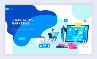 Social Media-Marketing-Web-Banner vektor