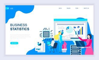 Företagsstatistik Webbanner vektor