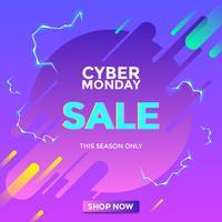Elektrischer Cyber-Montag-Verkaufs-Social Media-Beitrags-Vektor vektor