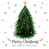 Netter Weihnachtsbaum-Hintergrund vektor