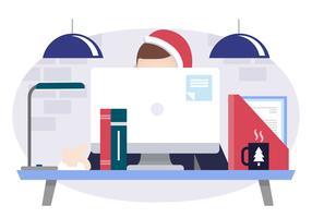 Vektor-Designer-Desktop-Illustration