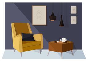 Vektor-Wohnzimmer-Illustration vektor