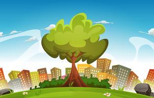 Vår City Landscape vektor