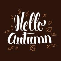 Hallo Herbst, Kalligraphiesaison-Fahnendesign, Illustration