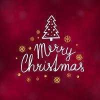 Typografiedesign-Vektorillustration der frohen Weihnachten