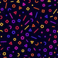 Färgglada geometriska former, sömlös bakgrund, illustration vektor