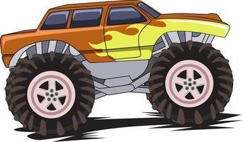 68. Monster-Truck-Maskottchen-Logo vektor