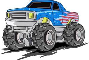 Monster Truck Off Road Illustrationsvektor vektor