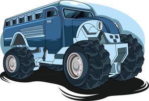 72. großer LKW-Monster-Truck-Illustrationsvektor vektor