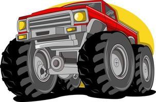 Cartoon Monster Truck Fantasie Handzeichnung hand vektor