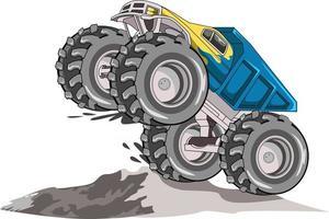 69. großer LKW-Monster-Truck-Vektor vektor