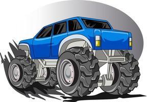 73. der blaue Monstertruck-Vektor vektor