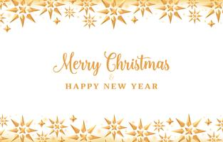 Weihnachtshintergrund mit Goldkristallsternen, Feiertagsdesign vektor