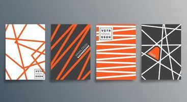 lineares minimalistisches Design für Karten, Poster, Flyer, Broschürencover, Hintergrund, Tapeten, Typografie oder andere Druckprodukte. Vektor-Illustration. vektor
