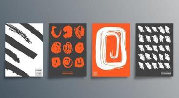 Musterpinsel minimales Design für Karten, Poster, Flyer, Broschürencover, Hintergrund, Tapeten, Typografie oder andere Druckprodukte. Vektor-Illustration. vektor