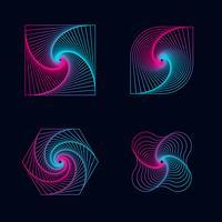 Verlaufslinie Spirale entwirft Elemente